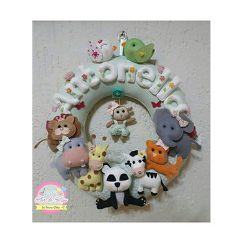 Porta de Maternidade Safári Menina