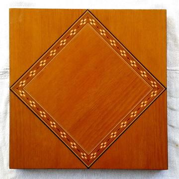 Quadro Em Marchetaria - Geométrico - Quadrados