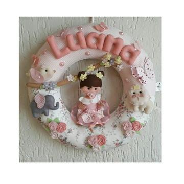 Porta de Maternidade Menina floresta