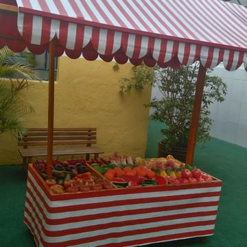 Barra de feira infantil para Escolas buffets e espaços kids