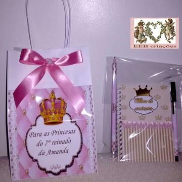 Kit de caderninho com lápis e caneta