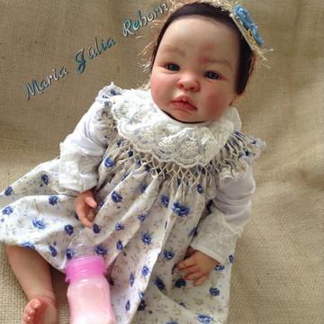 Boneca Bebê Reborn Manu Kit Shyann parece de verdade