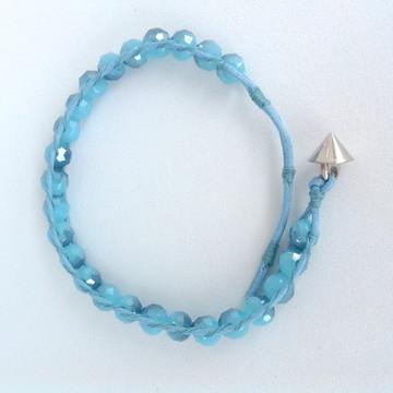 Pulseira cristal azul céu