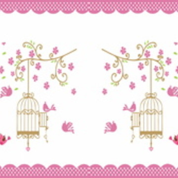 Faixa Adesiva Jardim e Pássaros