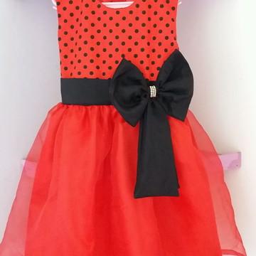 Vestido Infantil de Festa Minei Vermelho