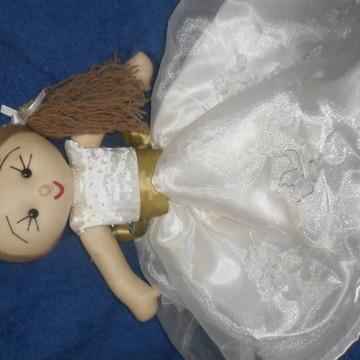 Boneca de pano noivinha
