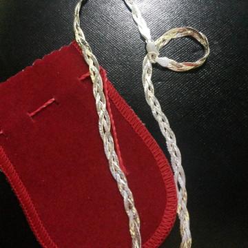 Corrente de Prata 3 fios Prata 925