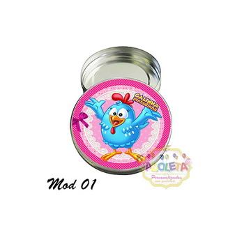 Latinha personalizada galinha pintadinha