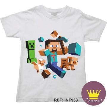 Camiseta Infantil Minicraft Game 07