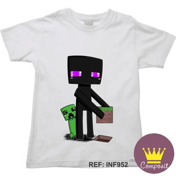 Camiseta Infantil Minicraft Game 08