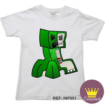 Camiseta Infantil Minicraft Game 09