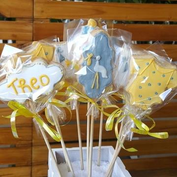 Biscoitos decorados Chá de Bebê