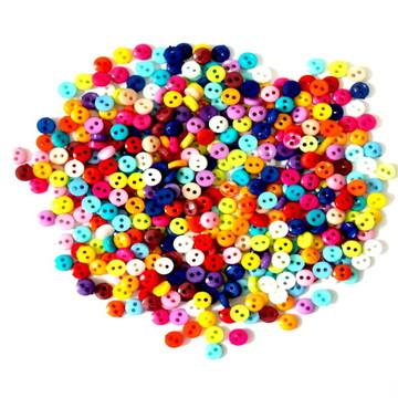 50 Mini Botão Colorido de 6mm