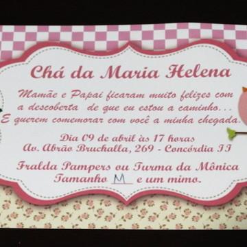 Convite de Chá de Fraldas Personalizado