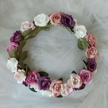 Coroa de flores -colorida