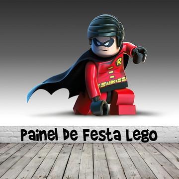 Painel de Festa Lego Robin