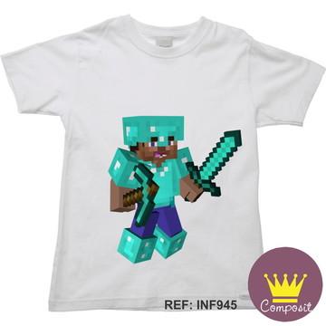 Camiseta Infantil Minicraft Game 14