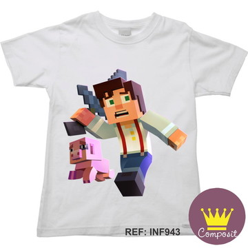 Camiseta Infantil Minicraft Game 16