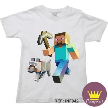 Camiseta Infantil Minicraft Game 17