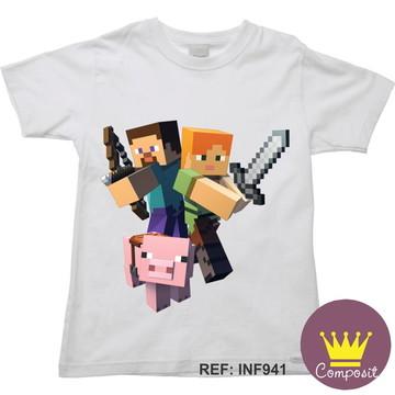Camiseta Infantil Minicraft Game 18