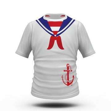 Camiseta Fantasia de Carnaval Marinheiro
