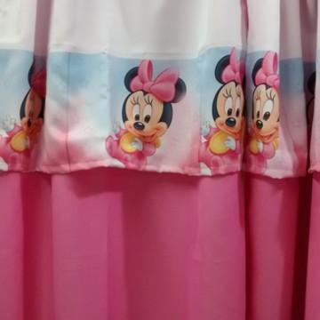 cortinas infantil tema Minie e Michey baby