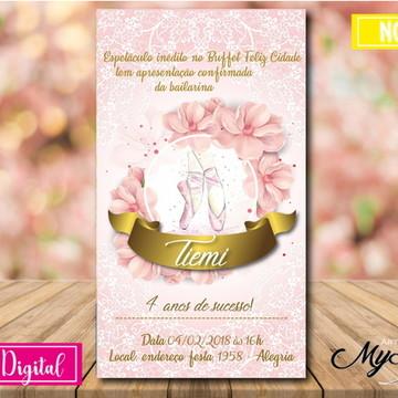 Convite Digital - Bailarina