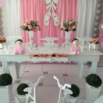 Locação decoração chá de bebê bailarina