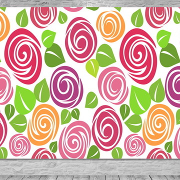 Painel Flores Rosas Textura - Frete Grátis