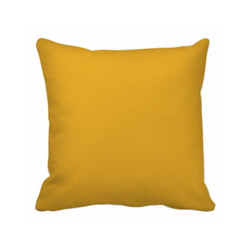 Capa De Almofada Amarela Lisa