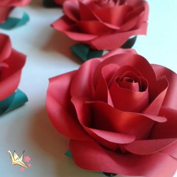 Mini Rosa de Papel - 6cm
