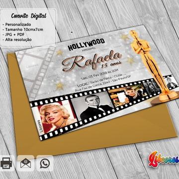 Convite Cinema - Festa do Oscar - arte digital