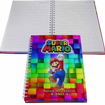 Caderno Personalizado - Mario World