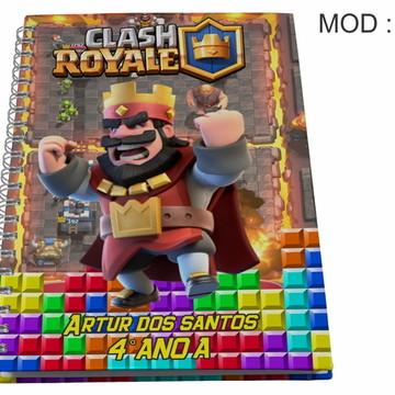 Caderno Personalizado - Clash Royale