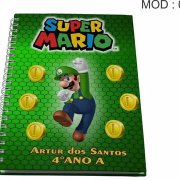 Caderno Personalizado - Luigui e Mario