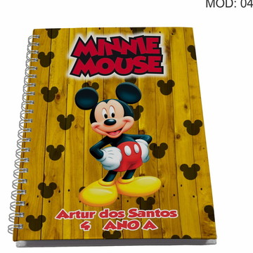 Caderno Personalizado - Mickey e sua turma