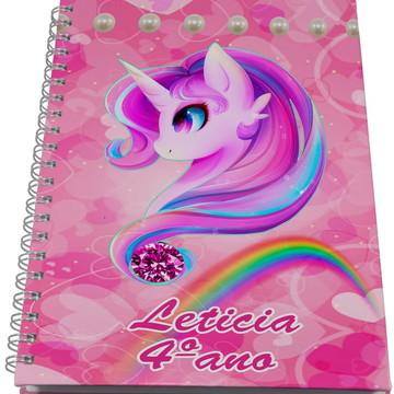 Caderno Personalizado - Unicornio
