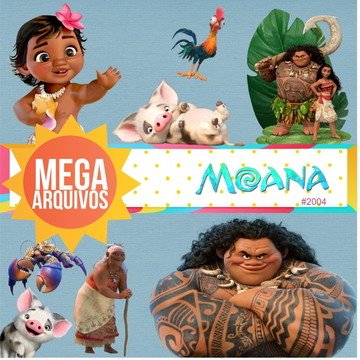#2004 Mega Kit digital PNG - Moana