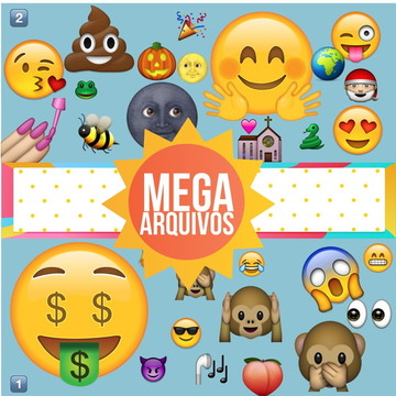 Mega Kit Digital com 853 Emoji Whatsapp em PNG #2008