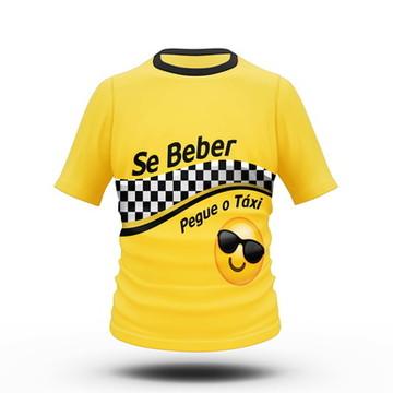 Camiseta Fantasia de Carnaval Táxi e Uber