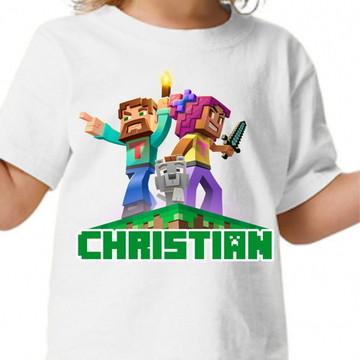 Camisa personalizada - Minecraft + nome