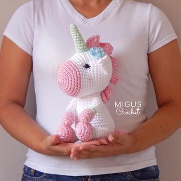 Unicornio de crochê (ROSINHA)