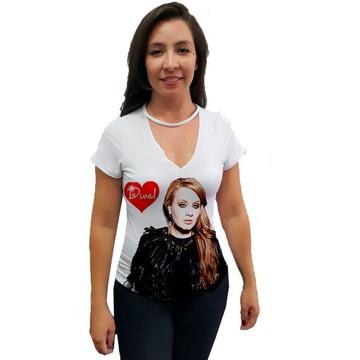 827c646723 Camiseta Gola Chocker Adele