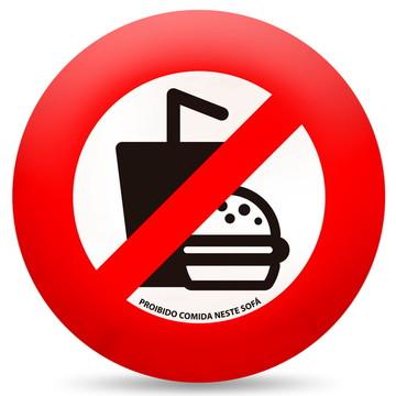 Almofada proibido comida neste sofá - placa