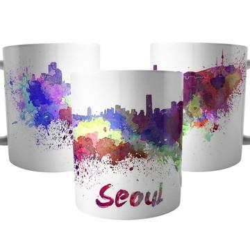 Caneca cidade de Seul na Coréia do Sul - Lembrança de Viagem