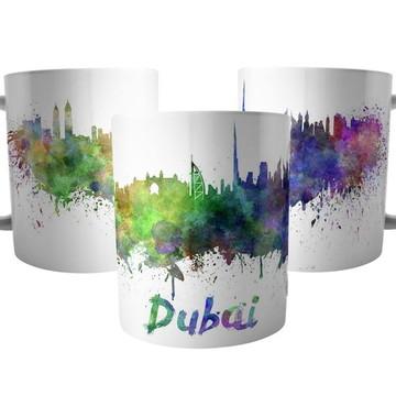 Caneca da Cidade de Dubai - Lembrança Emirados Árabes
