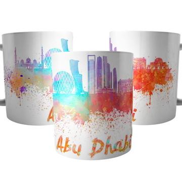 Caneca da Cidade de Abu Dhabi - Lembrança Emirados Árabes