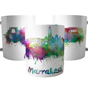 Caneca da Cidade Marraquexe - Lembrança Marrakesh Marrocos