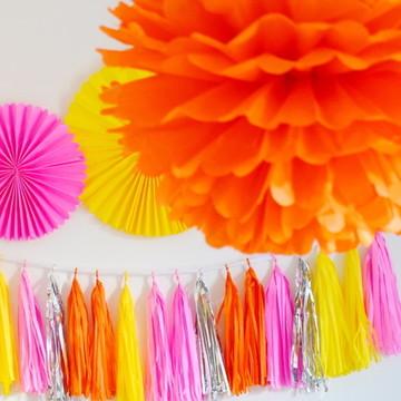 Kit festa Decoração Sob Medida ROSANA 10 fitas de poás