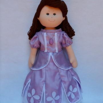Princesa Sofia boneca de pano grande.